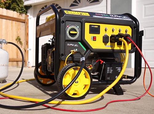 dual fuel 7500 watts running on propane