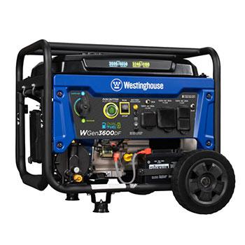 Westinghouse WGen3600DF Dual Fuel Portable Generator