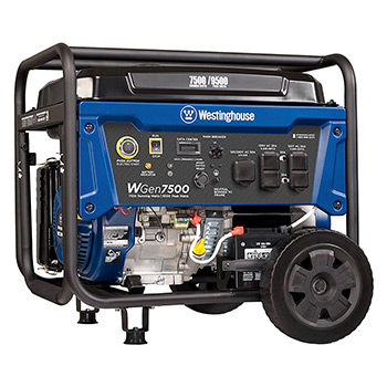 Westinghouse WGen7500 Gas powered portable generator