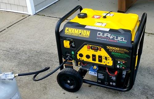 dual fuel 10,000 watt generator