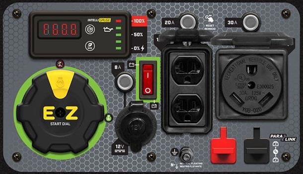 Champion Power Equipment 4500-watt control panel